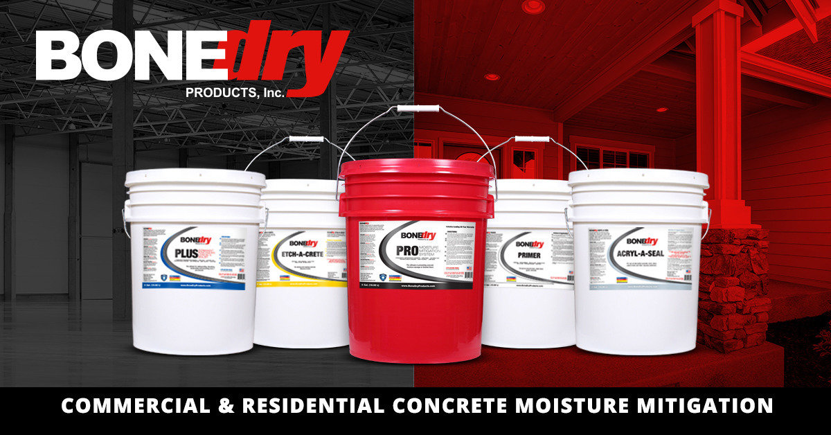 Bone Dry Original Permanent Moisture Mitigation Concrete Sealer Commercial Waterproof Slab Sealing Product Deep Penetrating Water Based